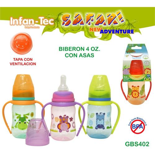 biberón 120ml con asas gbs402- bebés y niños