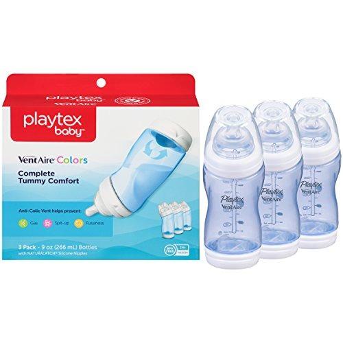 biberón anti-cólico baby ventaire, sin bpa, azul, 9 onzas -