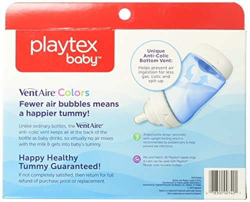 biberón infantil con biberón playtex baby ventaire, sin bpa,