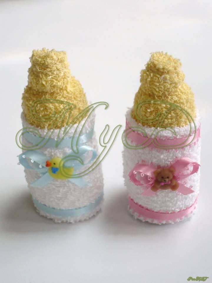 Biber n mamila recuerdo de toalla en bolsa 10 piezas baby - Toalla con respaldo ...