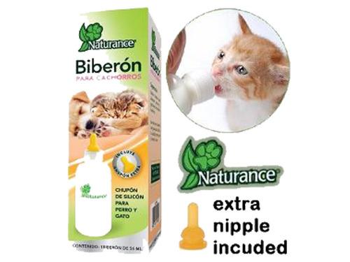 biberon p/cachorros 56ml chupon extra naturance perro gato