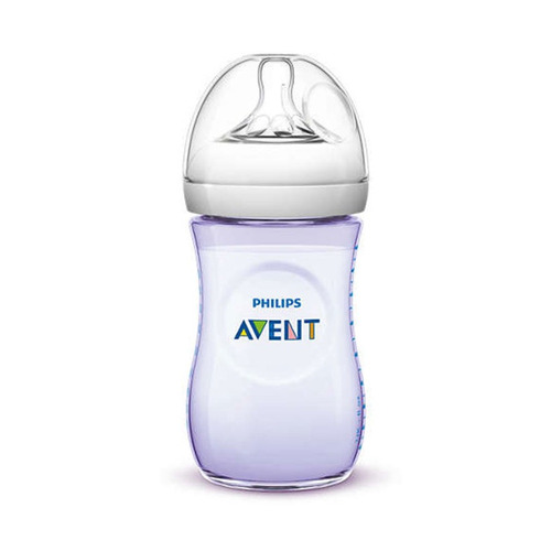 biberón philips avent natural 9oz/260ml scf693/14 morado +1m