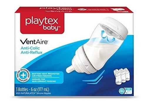 biberón playtex baby ventaire anti cólico, sin bpa, 6 onzas