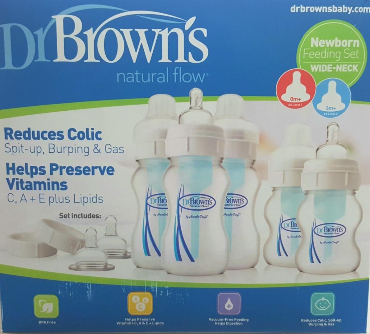 Brown/'s Set De Biberones Para La Alimentación De Bebés Recién Nacidos Dr