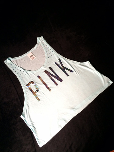 bibidi top sport pink bling victoria secret mujer mediano m