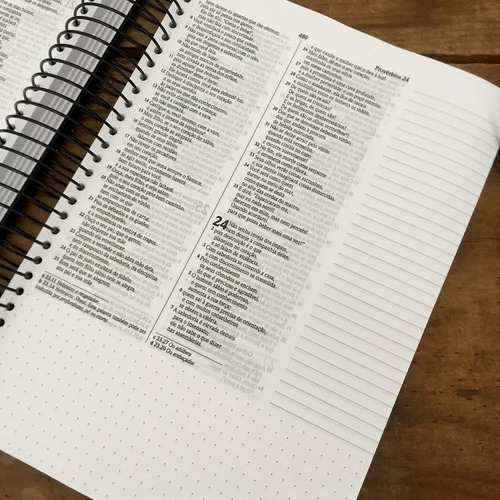 bíblia anote espiral céu azul nvi letra normal journaling