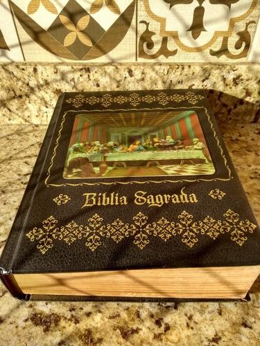bíblia - antiga 1974 capa dura ilustrada - ótimo estado rara