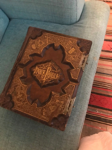 biblia antigua año 1880 antiguedad 139 años