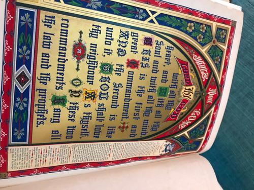 biblia antigua en ingles año 1880 antiguedad 139 años
