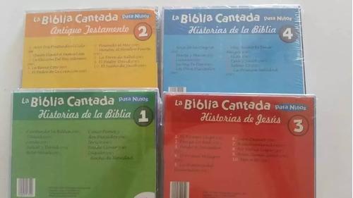biblia cantada para niños. cds originales