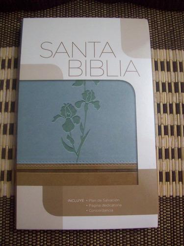 biblia clasica edicion especial rvr duo tono aguamarina/café