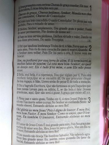 bíblia com harpa cristã letra gigante  capa rosa