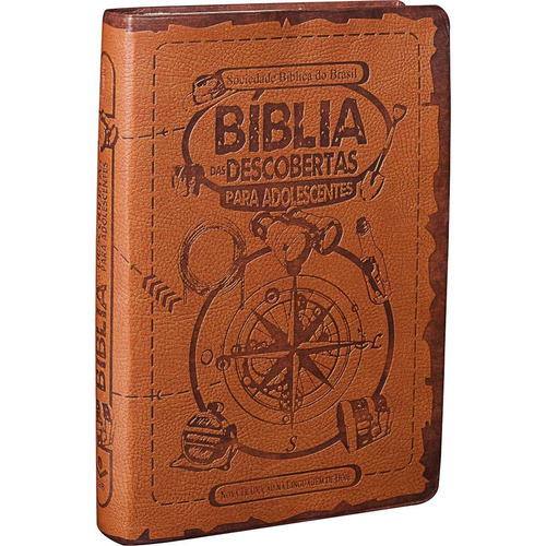 biblia das descobertas luxo marron ntlh estudos para jovens