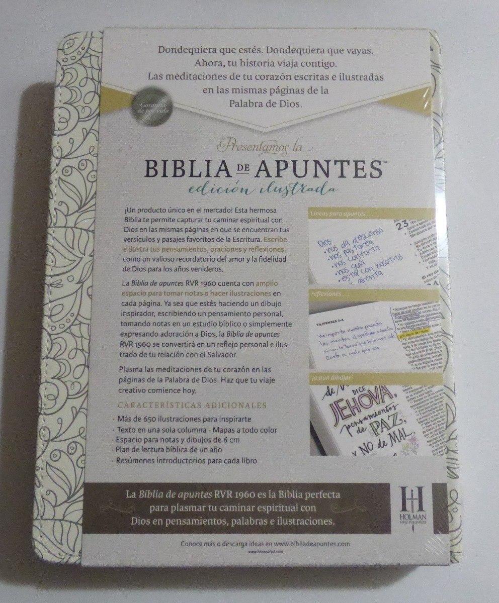 Biblia De Apuntes Rvr1960 Blanco Tela Para Colorear - $ 124.400 en ...