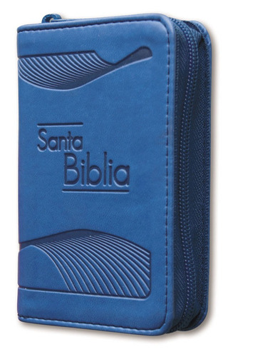 biblia de bolsillo azul reina valera 1960 con cierre