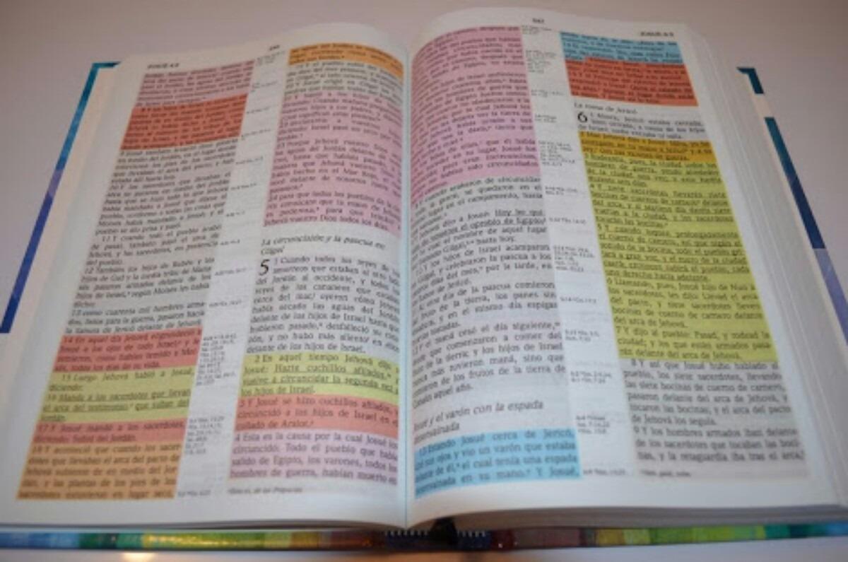 Biblia De Estudio Arco Iris Tapa Dura Indice Rvr60 ...