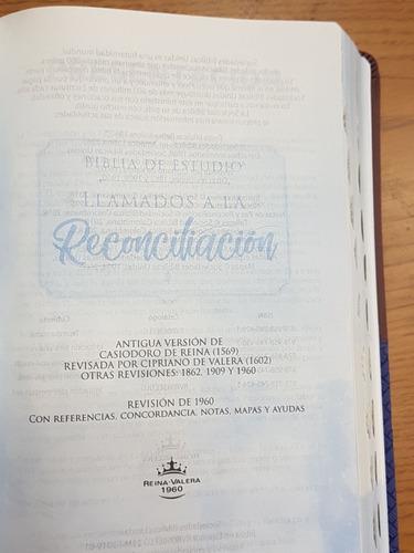 biblia de estudio la reconciliación reina valera 1960