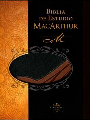 biblia de estudio macarthur piel italiana dos tonos rvr60