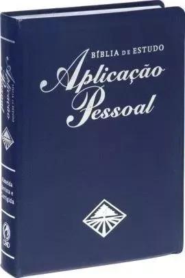 bíblia de estudo aplicação pessoal média luxo azul