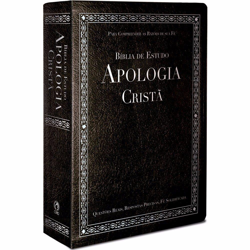 Bíblia De Estudo Apologia Cristã Preta Com Índice Cpad - R  110 8a7777bbef5