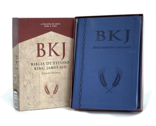 bíblia de estudo - bkj king james fiel 1611 c/estudo holman-