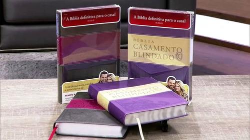 bíblia de estudo casamento blindado roxa e cinza