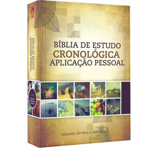 bíblia de estudo cronológica aplicação pessoal - capa dura