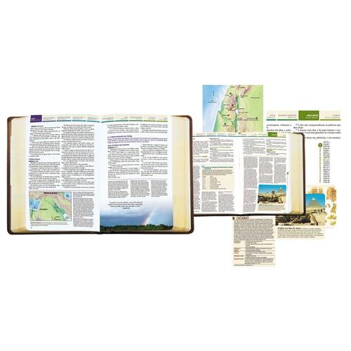 bíblia de estudo cronológica aplicação pessoal com capa dura