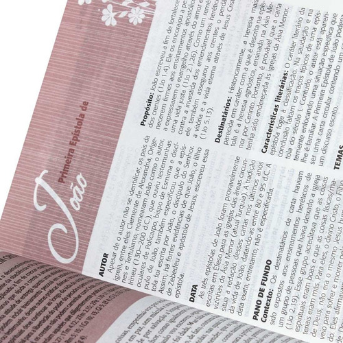 bíblia de estudo da mulher grande tulipa revista atualizada