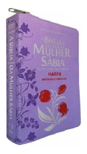 bíblia de estudo da mulher sábia com harpa avivada