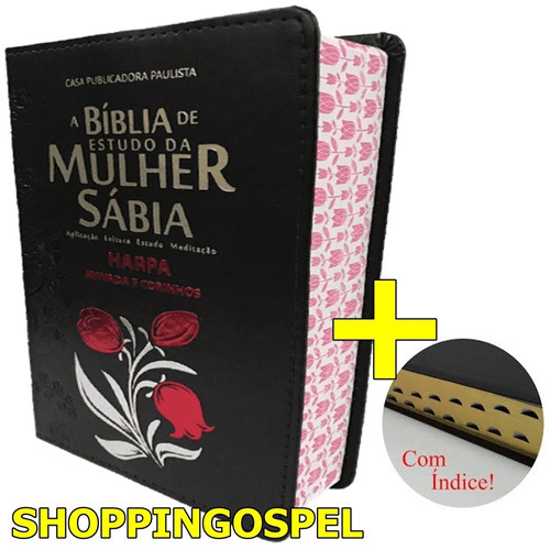 bíblia de estudo da mulher sábia letra grande harpa índice