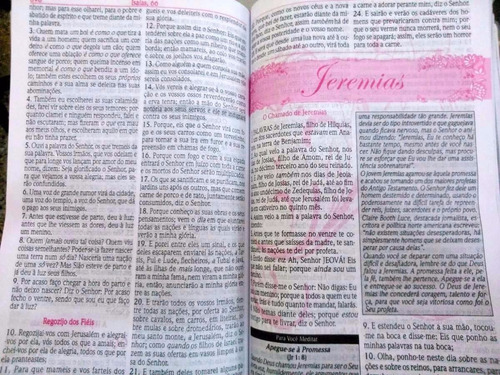 biblia de estudo da mulher sabia pink grande com harpa