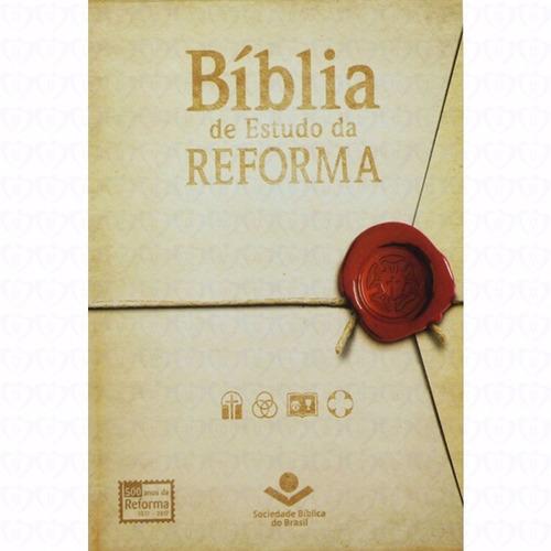 bíblia de estudo da reforma com índice vinho luxo com capa