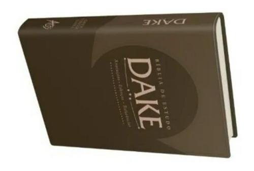bíblia de estudo dake capa luxo marrom editora atos