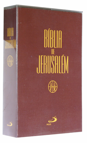 bíblia de estudo de jerusalém letra grande com capa plástica