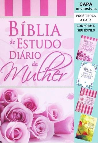 bíblia de estudo - diário da mulher - rosa