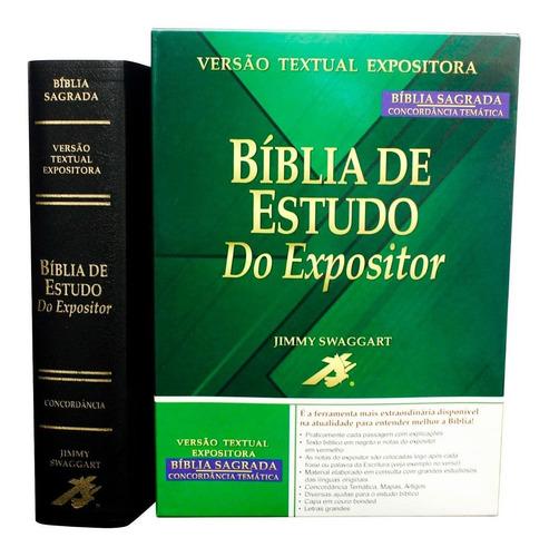 bíblia de estudo do expositor preta com caixa
