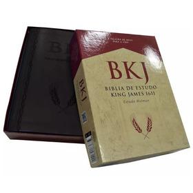 Bíblia De Estudo King James 1611 Bkj - Grande + Caixa