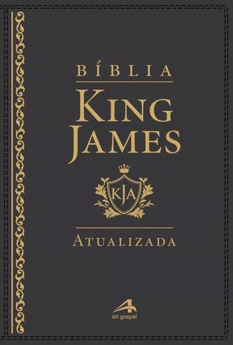 biblia de estudo king james atualizada luxo preta