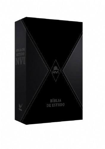 bíblia de estudo nvi capa luxo cinza preto