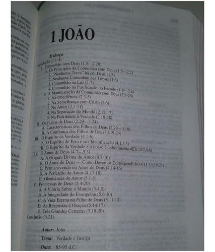 bíblia de estudo pentecostal grande preta luxo com índice