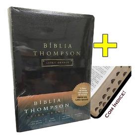 Bíblia De Estudo Thompson Letra Grande C/ Indice - Preta