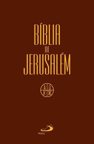bíblia de jerusalém capa cristal média  original