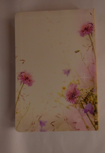 biblia de promesas piel especial floral letra gigante unilit