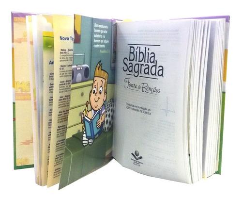 bíblia do midinho capa almofadada  ilustrada graça editorial