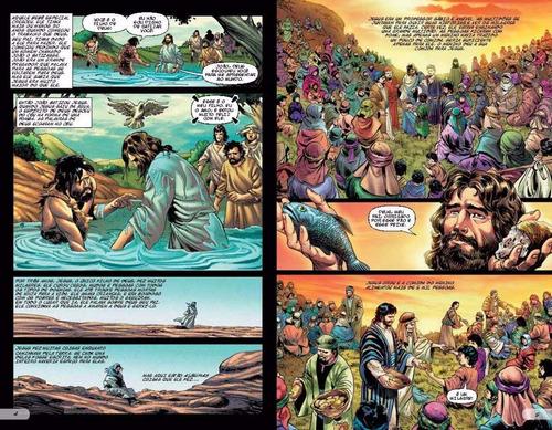 bíblia em acao em quadrinhos em ordem cronologica capa dura