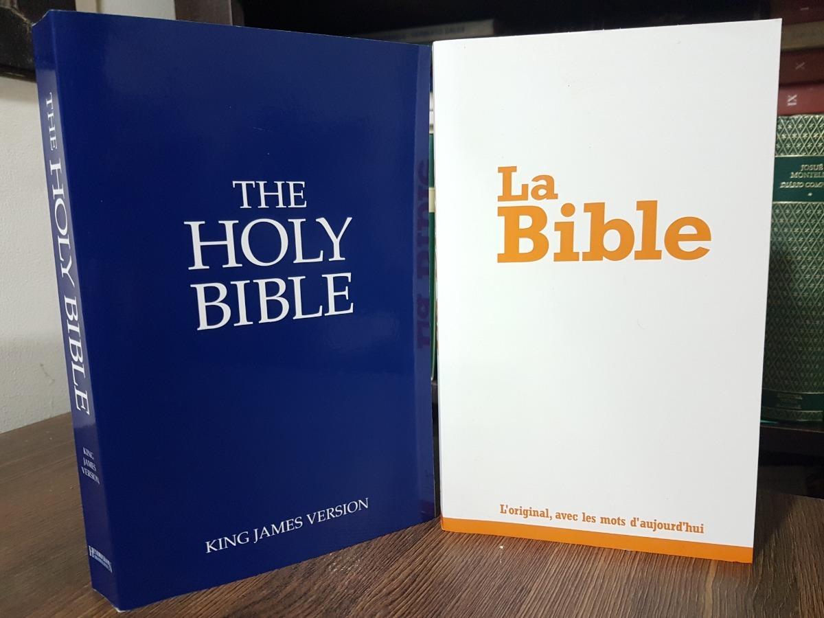 10b905a716e Bíblia Em Francês La Bible + Inglês Holy Bible