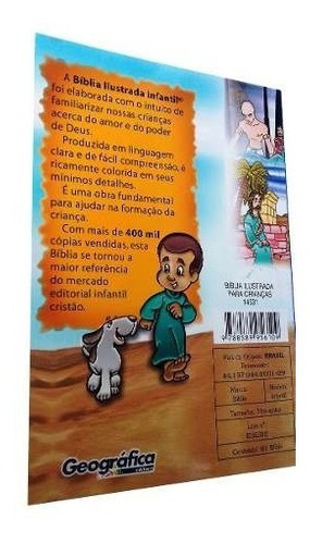 biblia ilustrada infantil para educação cristã capa dura