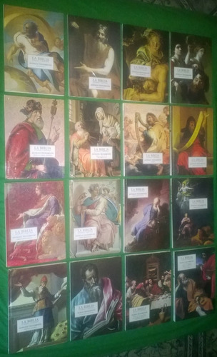 biblia ilustrada y comentada son dieciséis tomos (16)