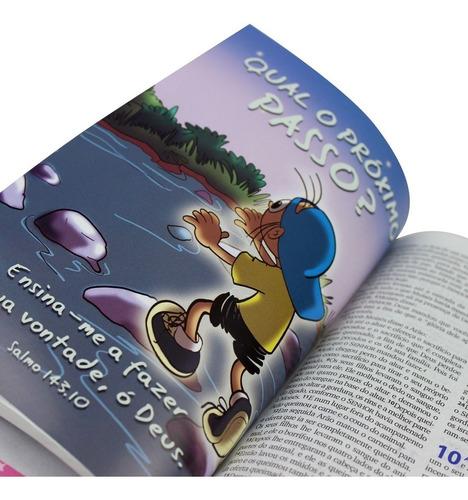 bíblia infantil ntlh agenda adesivos mig meg menino / menina